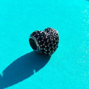 Pandora Black Pavé Heart Charm